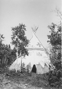 Painted Tipi at Camp Chief Hector 1937