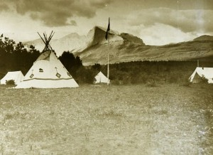 Early YMCA Camp at Bowfort Lake - Canmore Y