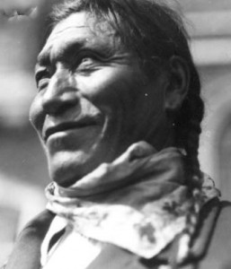 Jonas Benjamin, also know as Lone Walking Buffalo. Circa 1930 from Glenbow Files na-714-18